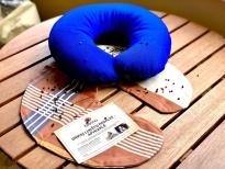 Grikių lukštų pagalvėlė-apykaklė