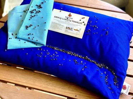Grikių lukštų pagalvė (55×42 cm)